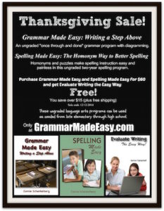Grammar Made Easy and Spelling Made Easy sale with free Evaluate Writing the Easy Way and free shipping until 12/12/2014.