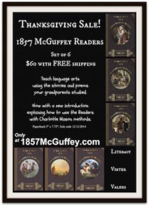 1857 McGuffey Readers- Set of 6- sale $60 with free shipping until 12/12/2014.